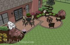 Backyard Patio Design - Circle Paver Kit Patio with Fire Pit