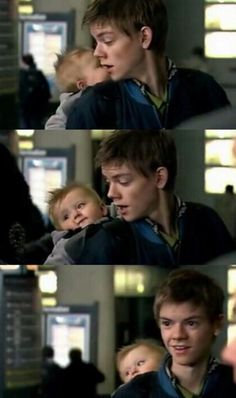 Thomas with a baby <3