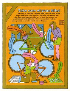 A Great Bicycle Book | PAge 13 | The Peculiar Maniule | Flickr Book Of Circus, Psychedelic Colors, Bicycle Race, Book And Magazine, Book Pages, Cool Things To Make, Good Books, Take Care Of Yourself, Coloring Books