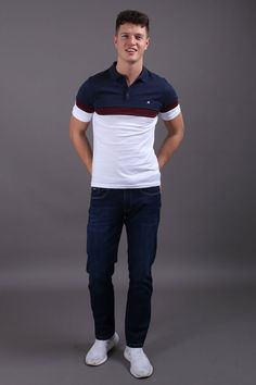 Jutland Short Sleeved White Polo Shirt Jutland Short Sleeved White Polo Shirt in Burgundy, Navy & Wine Our Jutland Short Sleeved White Polo Shirt features: Button down polo With contrasting chest panel, collar & buttoning Cotton- Cool Machine Wash Casual Chic Style, Casual Street Style, Work Casual, Fashion Wear, Trendy Fashion, Mens Fashion, Plaid Outfits, Preppy Outfits, Modern Gentleman