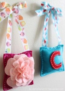 tooth fairy pillow to hang on the wall or doorknob to ensure you find the tooth and don't wake the little one!!!