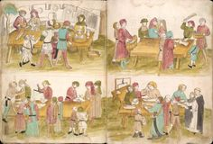 1460 c. Ulrich Richental's Chronicle of the Council of Constance (The market)
