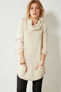 cabled cowl pullover / anthropologie