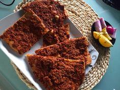 Dinkel Lahmacun l tuerkische Pizza aus Dinkelmehl Jamie Oliver, Snacks, Quiche, Smoothie, French Toast, Breakfast, Desserts, Recipes, Pizza Pizza