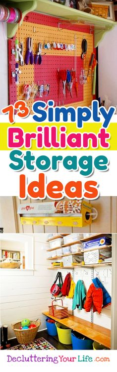 DIY storage solutions - 73 simple BRILLIANT storage ideas to get organized at home #gettingorganized