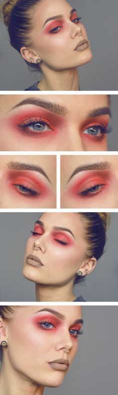 I keep trying to pull off red eyeshadow. It's nearly impossible, but I'm obsessed