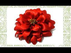 Flores de Navidad en cintas Christmas flowers in ribbons - YouTube