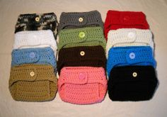 Wholesale Lot of 6 Photo Prop Crocheted Newborn Diaper Covers - Free Shipping ($30)