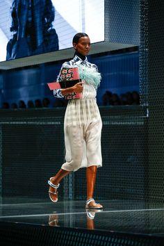Liya Kebede au défilé Prada