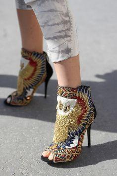 Oh wow! I don't know if I'd wear these but they're def a piece of art!