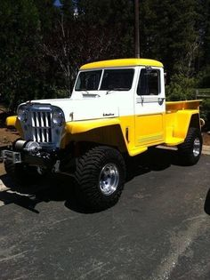 1959 Willys Jeep Maintenance of old vehicles: the material for new cogs/casters/gears/pads could be cast polyamide which I (Cast polyamide) can produce Jacked Up Trucks, Dodge Trucks, Jeep Truck, Custom Trucks, Cool Trucks, Pickup Trucks, Jeep Jeep, Truck Camper, Jeep Ika