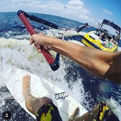 """Shout out to @ajsgoingleft for this week's #RedBullPointOfYou ✌️ In Aj's words: """"Me and my buddies take the boat out on Santa Fe lake in Melrose, FL. Out here in Florida there's not always decent waves. Wake surfing is a go to for me during the summer when it's flat in the ocean."""" #random #sport #beautiful #photo #travel"""