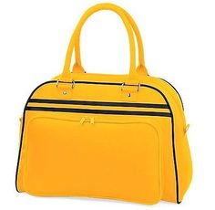 #Bagbase #retro bowling bag - #gold/black,  View more on the LINK: http://www.zeppy.io/product/gb/2/162176017465/