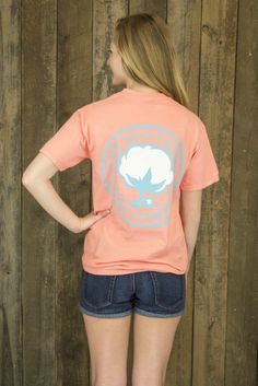 The Southern Shirt Co. Logo Tee - • 100% preshrunk, ringspun cotton for unparalleled comfort and breathability• Garment washed and pigment dyed for rich coloration and a classic look, this Comfort Cotton t-shirt is sure to be your NEW favorite shirt.• Short Sleeve with a pocket (frocket)