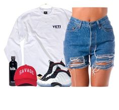 """""""Didn't they tell you that I was a savage."""" by oh-aurora ❤ liked on Polyvore featuring NIKE, Kenneth Jay Lane and Sole Society"""