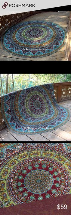 Cute bohemian yoga tapestry mat. Ships within 1.5 weeks. Material : cotton. King Accessories