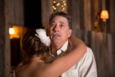 A sentimental moment from the bride's father as they dance. Photo by Cherish Bickel