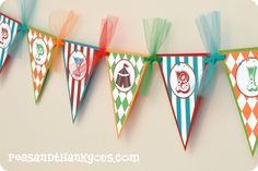 pennant for 1st birthday party.