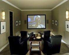 Small Media Room Design Ideas, Pictures, Remodel And Decor  #smallroomdesignoffice