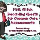 #Common Core Recording Sheets for #First Grade Math and ELA ~ These recording sheets will help you keep track of your assessment data for individual students.  The layout of the recording sheet makes it easy $