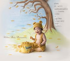 Winnie The Pooh Cake Smash! Willow Baby Photography in san Jose California