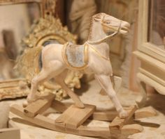 RESERVED FOR JO, ooak rocking horse, dollhouse miniature, scale 1:12 on Etsy, $36.46