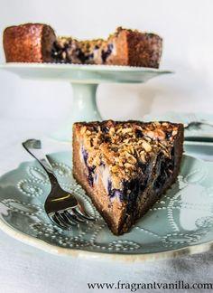 Vegan Blueberry Cream Cheese Coffeecake