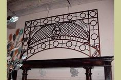 VERY LARGE ANTIQUE 19TH C OAK STAIRWELL FRETWORK GUARD : Architectural Artifacts - Toledo, OH