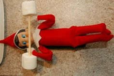 Pumping marshmellows elf on the shelf