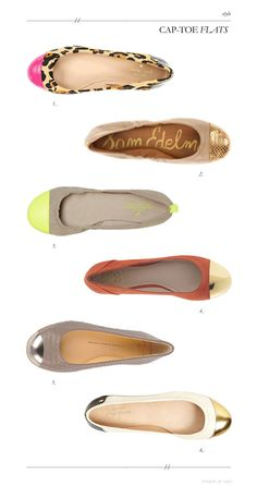 cap-toe flats