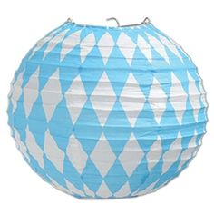 At your next Oktoberfest party, decorate your party area with these Oktoberfest Paper Lanterns. Hang this inexpensive party supply above the bar area, or food tables.