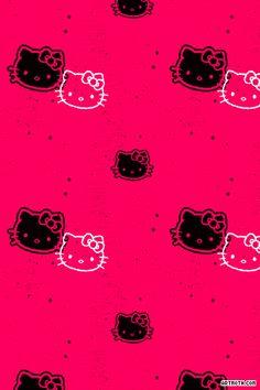 hello kitty backgrounds   Falling Hello Kitty iPhone Wallpaper