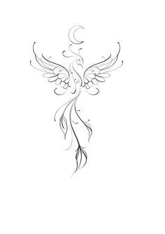 Phoenix Tattoo Feminine, Small Phoenix Tattoos, Phoenix Tattoo Design, Rising Phoenix Tattoo, Dainty Tattoos, Symbolic Tattoos, Small Tattoos, Small Feminine Tattoos, Pretty Tattoos