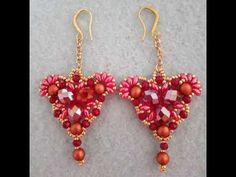 Orecchini 💞 Piccolo Cuore - YouTube Beaded Earrings, Drop Earrings, Beading Patterns, Beadwork, Make It Yourself, Beads, Pendant, Youtube, Jewelry