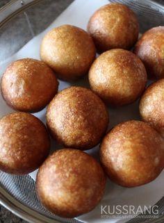 집에서 직접 찹쌀로 만든 건강한 맛 찹쌀 도넛 CHAPSSAL DOUGHNUTS - 겉은 바삭하고 쫀득...