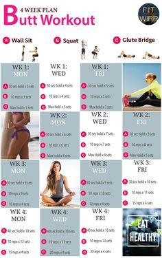 4 Week Brazilian butt lift workout for women - No equipment