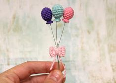 Pink Mouse Boutique: Tiny Crochet Balloons