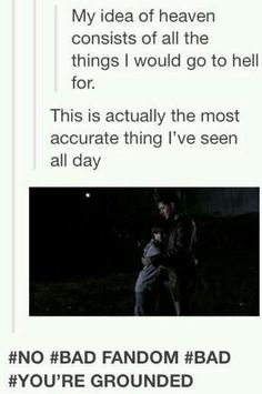 This is the truth. And one of my favorite moments of the series, hands down. That Samy and Dean in the field scenes literally kills me every single time.
