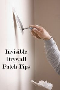 Invisible Drywall Patching Tips- patch holes without ever seeing them again!.