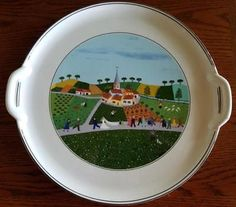 DESIGN NAIF by VILLEROY/BOCH - Handled Cake Plate - Wedding Scene