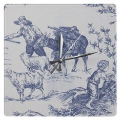 TENDING THE SHEEP SQUARE WALL CLOCK