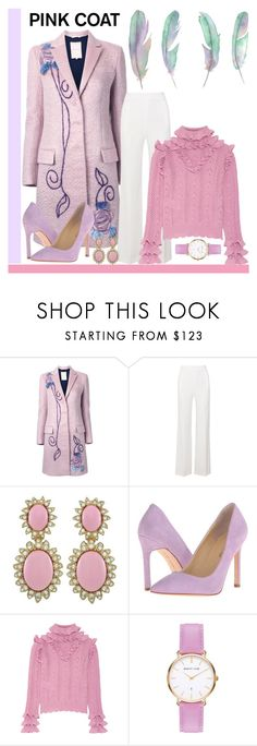 """""""Pretty Pink Coat"""" by aharcaki ❤ liked on Polyvore featuring Roksanda, Roland Mouret, Ciner, Ivanka Trump, Gucci and Abbott Lyon"""