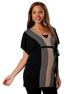 Maternity trends; chic and casual tunics via @babycenter #maternity