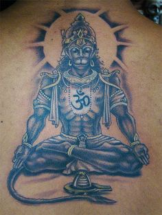 Hanuman Tattoo, Hanuman Chalisa, Ganesha Tattoo, Durga, Hanuman Ji Wallpapers, Shiva Tattoo Design, Hindu Tattoos, Hanuman Images, Monkey Pictures