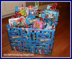 Easter is coming now would be a great time to get kids their fun gift basket for little boys birthday or for grown men on memory lane hot wheels battleship bubble tape legos etc negle Gallery