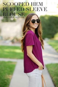 Merrick's Art // Style + Sewing for the Everyday Girl: DIY FRIDAY: SCOOPED HEM BLOUSE WITH PUFFED SLEEVES