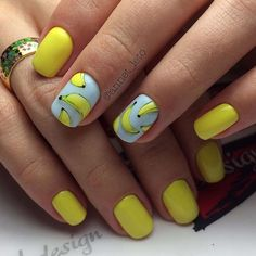 Look through our collection of 40 summer nail designs! We have all the most fabulous acrylic nail designs for summer for you to choose from! Acrylic Nail Designs, Nail Art Designs, Acrylic Nails, Fun Nails, Pretty Nails, Yellow Nails, Super Nails, Nail Inspo, Nails Inspiration