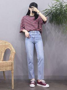 Korean Girl Fashion, Korean Fashion Trends, Korean Street Fashion, Ulzzang Fashion, Korea Fashion, Asian Fashion, Look Fashion, Trendy Fashion, Fashion Outfits