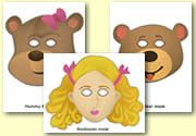 Masks - Goldilocks and the 3 Bears