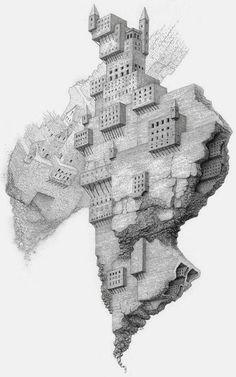 forma es vacío, vacío es forma: Mathew Borrett - dibujo, ilustración